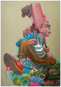 Canvases 2012 by Przemek Blejzyk, via Behance
