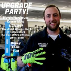 Nate Bernard and all of the Bicycle Warehouse staff are having an upgrade party today at our Kearny Mesa store! Drinks Food and crazy deals ALL DAY!  Roll on in and pay us a visit! #BicycleWarehouse #Bike #Bikes #Cycling #mtb #Freedom #Fitness #Fun #Ride #RoadCycling #TrailRiding #GiantBicycles #RideLifeRideGiant #roadbike #shimano #mountainbiking #sram #sprint #freeride #enduromtb #mtbpictureoftheday #livetoride #bikestagram #speed #cyclist #endurance #passions #bikeforlife #lovebike