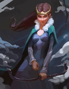 Lady of the winter sketch :3, Veronika Firsova on ArtStation at https://www.artstation.com/artwork/Jkg5Z