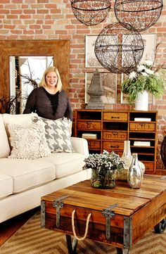 Remember this room? Remember all that industrial farmhouse glory? I designed it over a year ago and it's still one of my favorites. Remember where it began? This was one day before I started. Home Living Room, Farm House Living Room, Industrial Decor, Apartment Living Room, Home Decor, Industrial Office Decor, Living Room Grey, Industrial Farmhouse, Industrial Farmhouse Decor