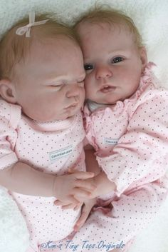 2 Reborn Kits Twins Honey Sugar by Donna RuBert 30504 not Completed Dolls Real Looking Baby Dolls, Life Like Baby Dolls, Life Like Babies, Newborn Baby Dolls, Reborn Babies, Twin Babies, Baby Born, Girl Dolls, Barbie Dolls