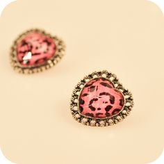 Heart Stud Earrings. Spookier cuuutee!