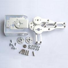 Hello Maker 2 DOF Aluminium Robot Arm Clamp Claw Mount Kit with Servos Diy Robot, Robot Arm, Clamp, Kit