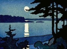 Moonlight, Passamaquoddy Bay, Ray Heus