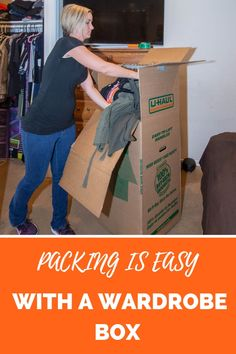 Our wardrobe boxes are the cure to the struggle of packing and unpacking your clothing. Wardrobe boxes are intended to make moving stored clothing and miscellaneous bulky items easier. Moving Boxes, Moving Out, Home Organization, Organizing, Moving Truck Rental, Wardrobe Boxes, Hanging Bar, Hanger, Packing