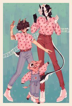 Dream Team, Bee Family, Happy Family, Character Art, Character Design, Bff, Mc Wallpaper, Dream Friends, Pretty Boy Swag