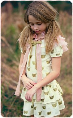 """""""Cat's Meow Dress"""" from Joyfolie #kidswear"""