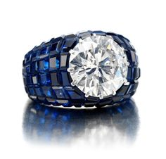 diamond sapphire van cleef vintage ring