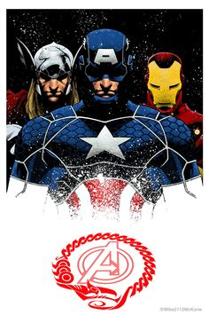 Captain America & Avengers by Mike McKone