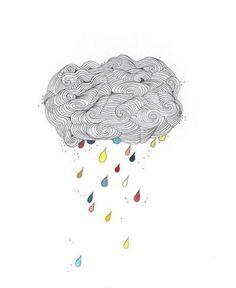 Colored rain