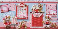 Sweet Valentine Girl Tear Bear Premade Scrapbook Pages Paper Piecing Craftyemg | eBay