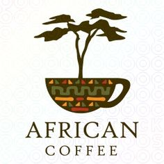 African coffee logo