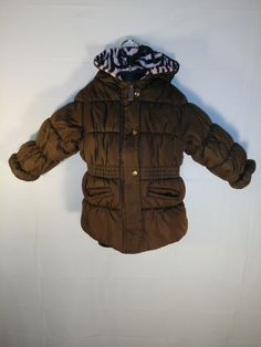Girls London Fog puffer snow coat size 18 Months. Excellent used condition, only the tag has some fading. The brown is a bold chocolate & the pink & brown zebra print hood is lined with soft, faux fur. Perfect for cold outtings!  PO# 601410  Offers always welcome! Expedited shipping & free gift wrapping available upon request.