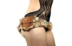 Rustic Faux Fur and Leather Charmed Utility Belt by wompawear, $79.00