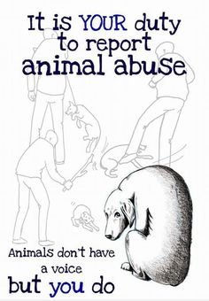 Graphic illustration but people need to stop closing their eyes to animal cruelty and abuse!!