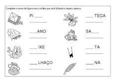 Atividades de alfabetização : PA, PE, PI, PO, PU