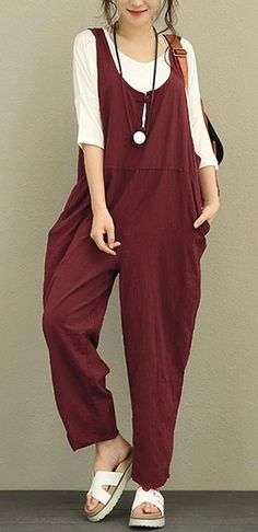 [Newchic Online Shopping] 48% OFF Designer Pure Color Jumpsuits for Women