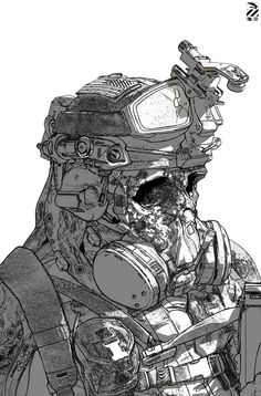 ArtStation - Zombie Hell Trooper., Nivanh Chanthara