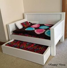 American Girl Doll Trundle Day Bed | Do It Yourself Home Projects from Ana White, so cute!