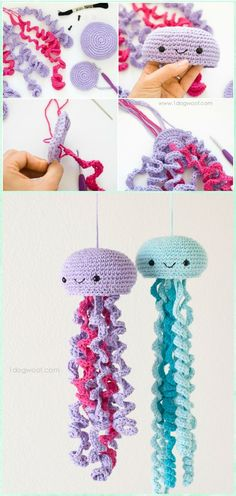 Crochet Jellyfish Free Pattern - Amigurumi Crochet Sea Creature Animal Toy Free Patterns