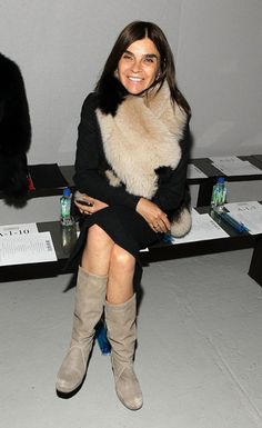 Carine Roitfeld front row @ Rodarte Fall Winter 2013 #NYFW