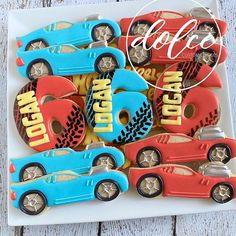 Monster Truck Cookies, Car Cookies, Royal Icing Cookies, Monster Trucks, Hot Wheels Birthday, Hot Wheels Party, Birthday Cookies, 4th Birthday, Truck Tools