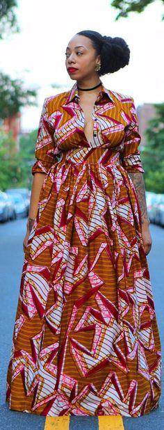 African Print Maxi Dress Ankara ~African fashion, Ankara ...