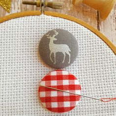 New to IridescentEpiphany! Check out this adorable needle minder! Never loose your Crosstitch needle again!