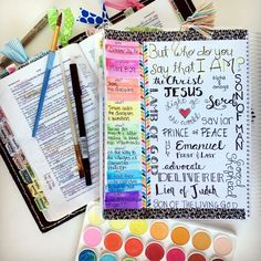 Bible Journaling helps me learn so much more from scripture and I love using my Bible Journal from Farm Girl Journals. Go check them out today! Bible Study Journal, Scripture Study, Bible Art, Bible Verses, Prayer Journals, Scriptures, Bible Mapping, Bible Notes, Bible Prayers