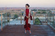 Invitada perfecta boda lowcost Zara otoño kimono mono jumpsuit Mono Zara, Vestidos Vintage, Duster Coat, Winter Fashion, Party Dress, Kimono Top, Formal, Chic, My Style
