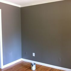 Valspar color: Mountain Smoke...After painting three samples of gray paint on my wall, I have selected this as my new paint color!! (Mindi)