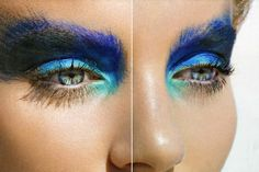 Maquillaje con inspiración animal- Pavo real.