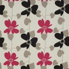 Splash out in patterns for 2013, such as this distinctive floral by Charles Parsons Interiors - Freya Fuchsia