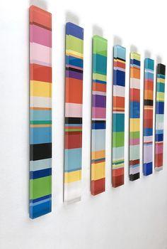 Baby Names Discover 7 piece striped acrylic artwork Diy Wall Art, Wood Wall Art, Diy Art, Wall Decor, Acrylic Artwork, Quirky Home Decor, Grafik Design, Wall Sculptures, Oeuvre D'art