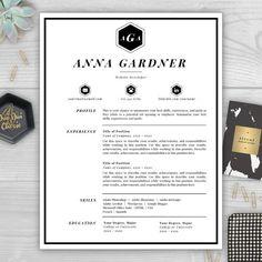 Beautiful Completely Transform Your Résumé For $15 With A Professionally Designed Monogram  Résumé Template From The Résumé