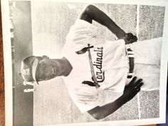 Curt Flood.    Taken on signing day at Busch Stadium back in 1955/56 era