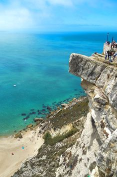 The precarious cliffs of Sítio above the fishing village of Nazaré, Portugal | heneedsfood.com