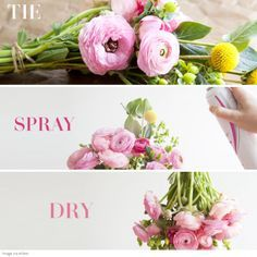 how to make a fresh flower dry