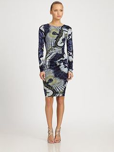 Emilio Pucci Ruched Jersey Dress