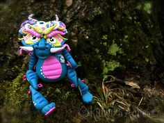 Polymer Clay Chinese Inspired Dragon 'Lanying' - Limited Edition Handmade Collectible by KatersAcres on Etsy