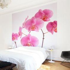 Papier peint intissé - Mellow Orchid - Mural Carré papier peint photo intissé tableau mural photo