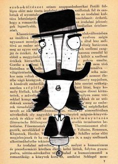 Wall art Folk art Illustration art print mustache by mohadesign, $10.00