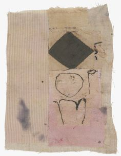 Hannelore Baron Untitled Cloth and ink. Collages, Textile Fiber Art, Textile Artists, Mixed Media Collage, Collage Art, Textiles, Fabric Journals, Sewing Art, Black And White Drawing