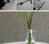 DIY Bud Vase Out of an Old Light Bulb! Easy Diy Crafts, Fun Crafts, Budget Crafts, Vase Crafts, Decorating Your Home, Diy Home Decor, Decorating Ideas, Room Decor, Light Bulb Vase