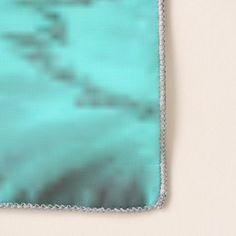 Aqua Flower Print Scarf