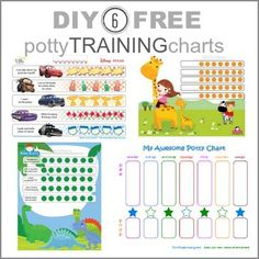 6 Potty Training Charts: DIY & Free Printables