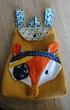 sac a dos renard enfant bebe creche ,couture fait main Couture, Pot Holders, Fox, Handmade, Bag, Kid, Bebe, High Fashion, Potholders
