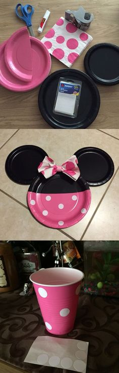 Mini-Mouse-Plates | Easy DIY Birthday Party Ideas for Girls