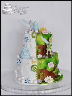 Half Birthday Cakes, Fairy Birthday Cake, Beautiful Cakes, Amazing Cakes, Cupcake Cakes, Cupcakes, Different Kinds Of Cakes, Peter Pan Party, Fairy Cakes