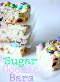 Easter Sugar Cookie Bars  1 egg 1 egg white 1 cup sugar 2 1/2 cups flour 1/2 cup butter (melted) 1 1/2 Tbsp sour cream 1 tsp vanilla 1/2 tsp...